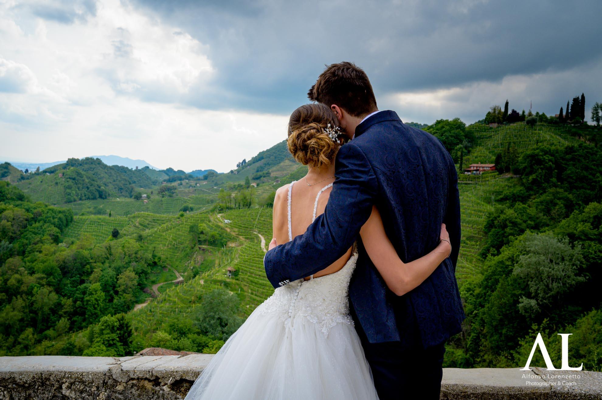 Matrimonio sulle colline del Prosecco-Collagù